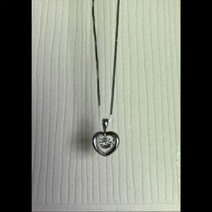 Jewelry - Floating Heart Diamond Neckace